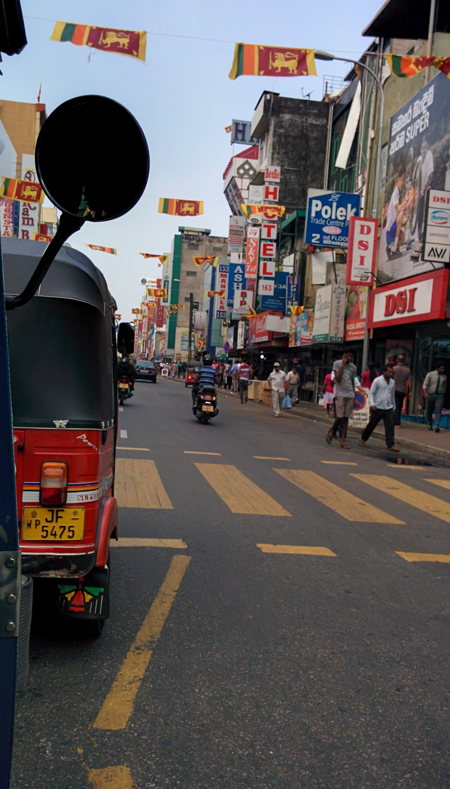 View from a tuk-tuk in Sri Lanka | Image subject to copyright